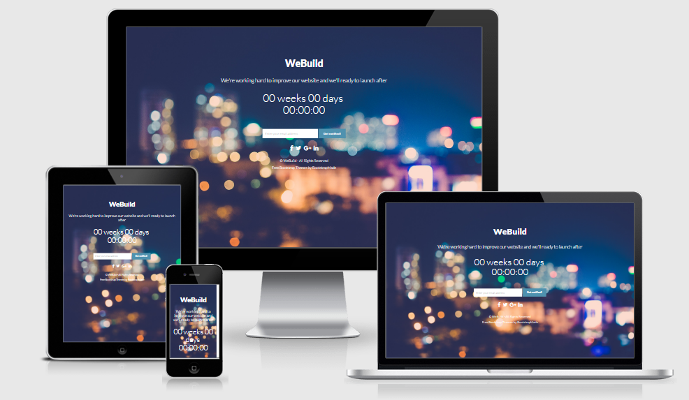 WeBuild - Free responsive template