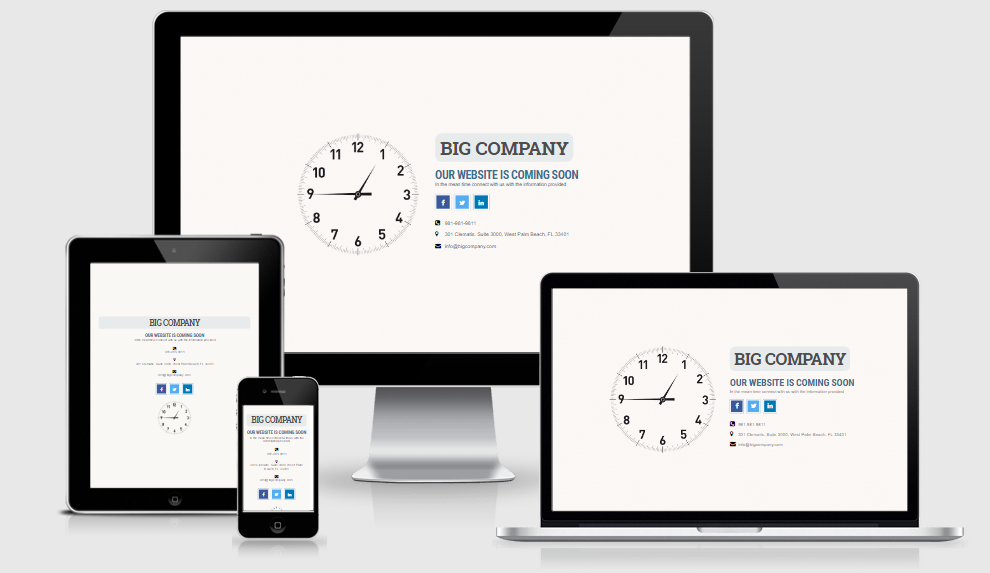 Time's a Wastin - Free responsive template