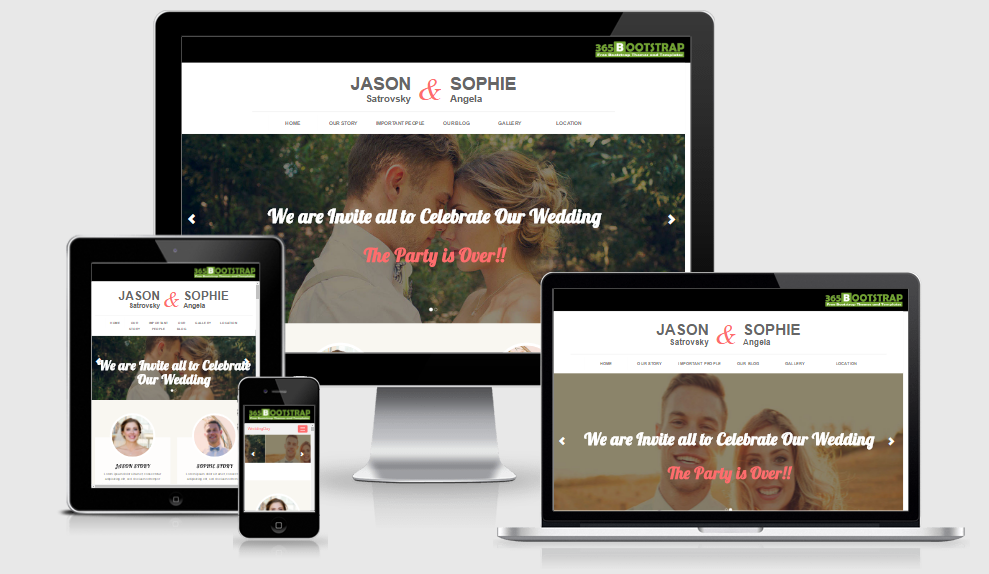 Wedding Day - Free Responsive Template