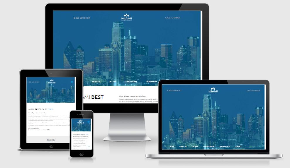 Miami - Free responsive template