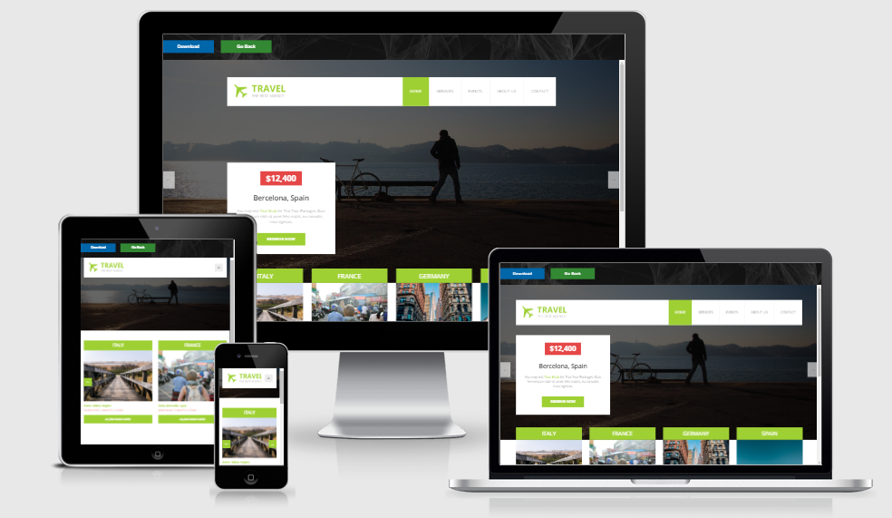 Travel - Free responsive template