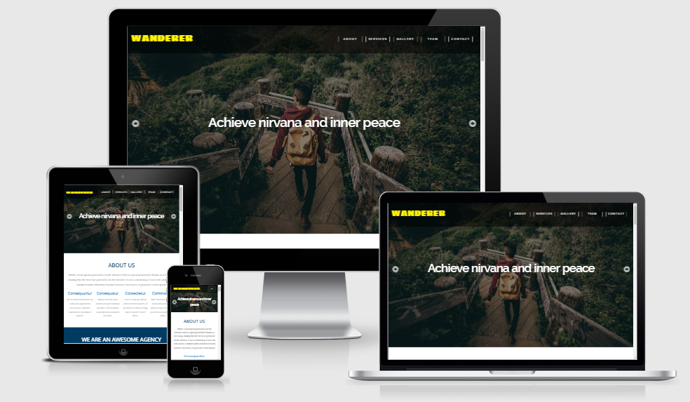 Wanderer - Free responsive template