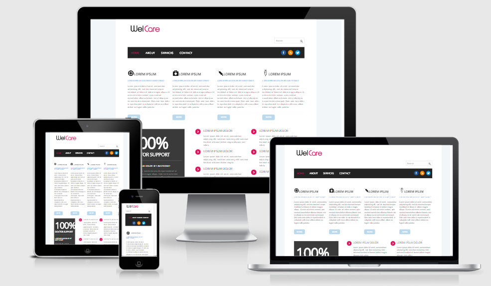 Welcare - Free responsive template