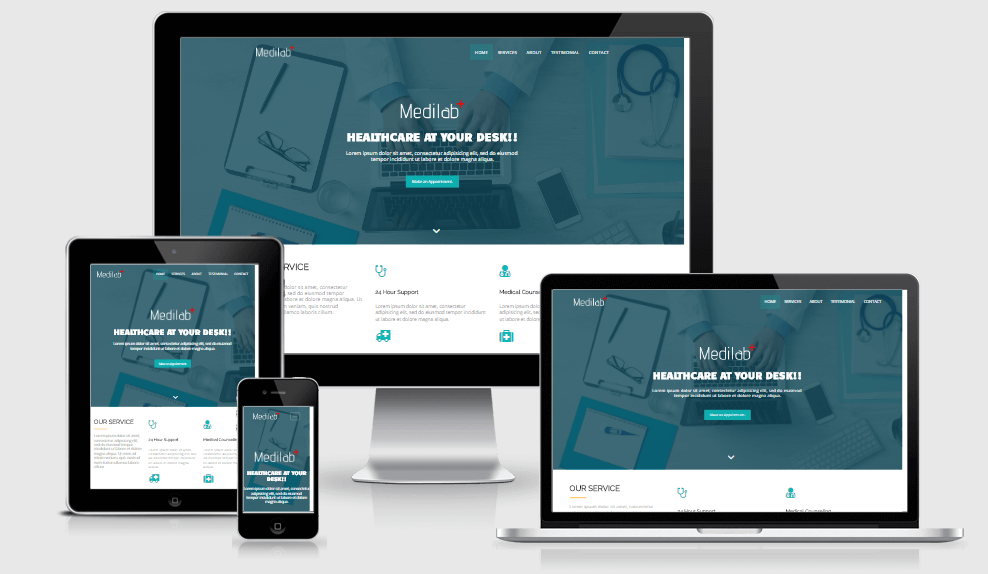 Medilab free gym fitness bootstrap website templates