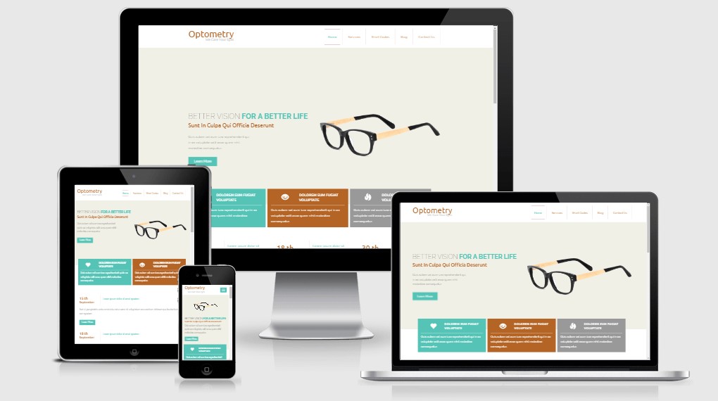 Optometry free gym fitness bootstrap website templates