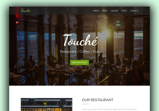 Delicious HTML5 Bootstrap based free restaurant template download