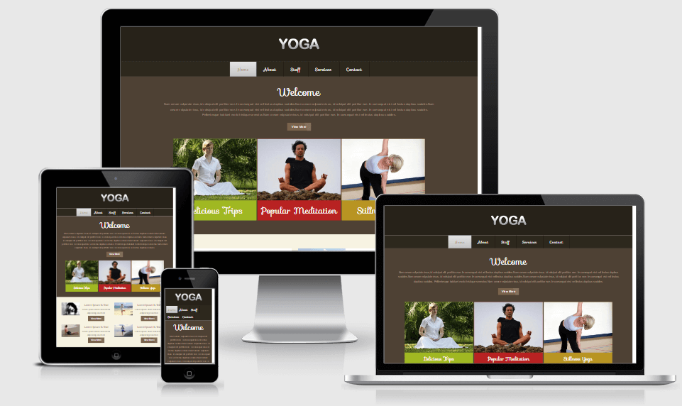 Yoga free gym fitness bootstrap website templates