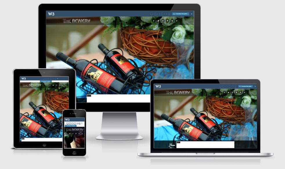 Brewery HTML5 Bootstrap based free restaurant template download