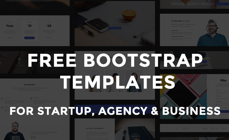 free html5 responsive bootstrap templates for agency startup business websites in 2017