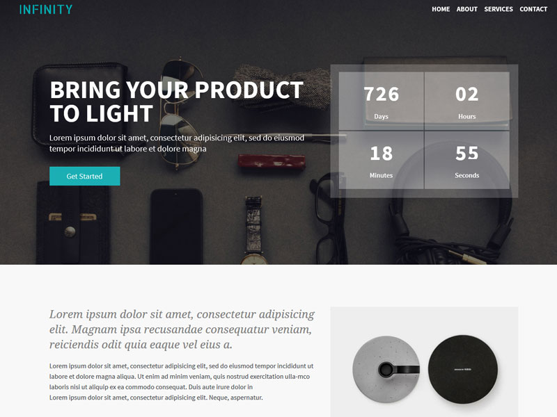 Best Free coming soon Bootstrap 4 template