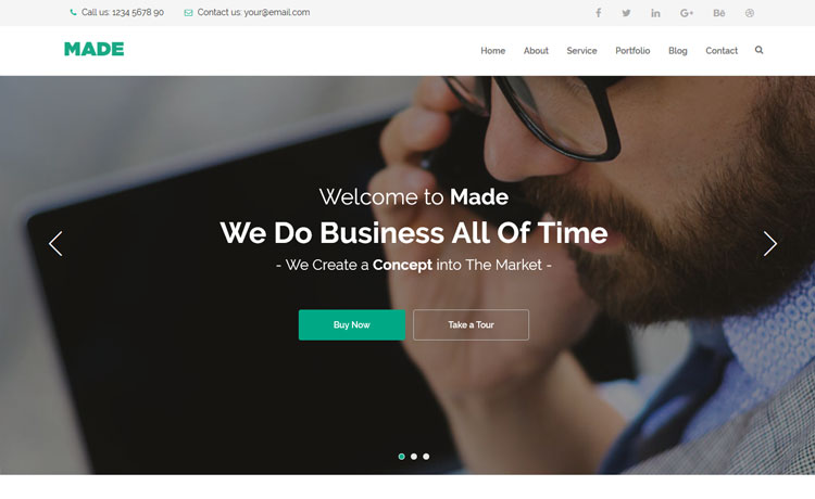 A Free Business HTML5 Template with Bootstrap 3