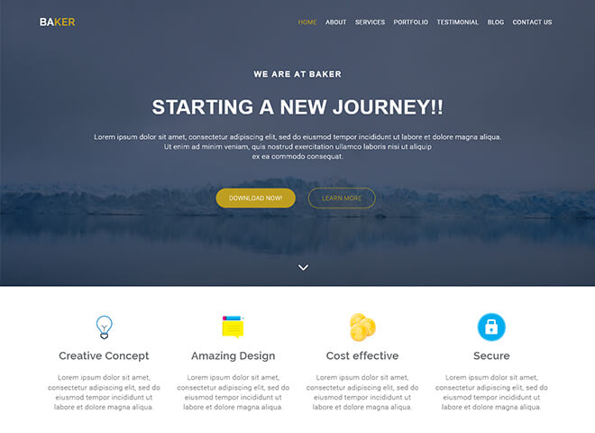 03.-Baker1 business website design template