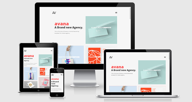 031. Avana free responsive bootstrap template