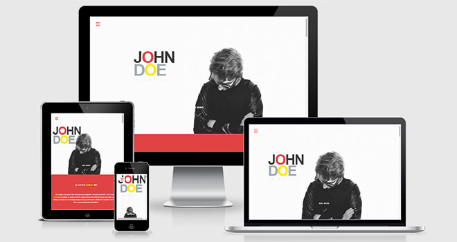 039. John Doe free responsive bootstrap template