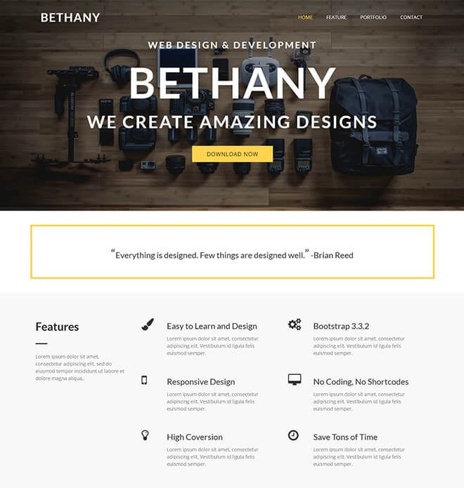 04.-Bethany1 business website design template