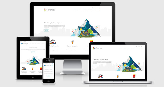 044. Triangle free responsive bootstrap template