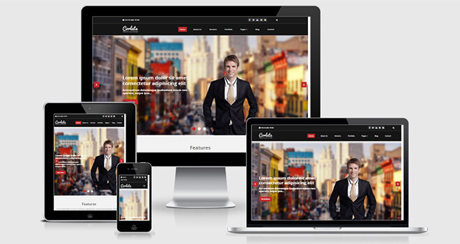 051. Corlate free responsive bootstrap template