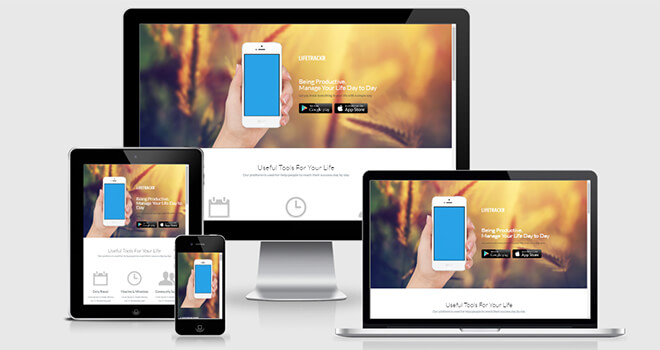 060. Life Tracker free responsive bootstrap template