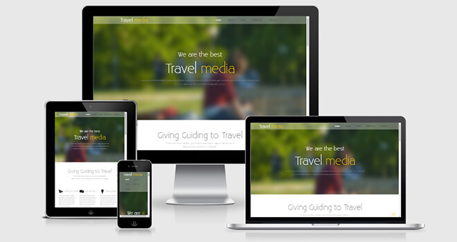 068. Travel Media free responsive bootstrap template
