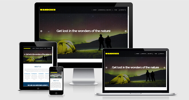 074. Wanderer free responsive bootstrap template