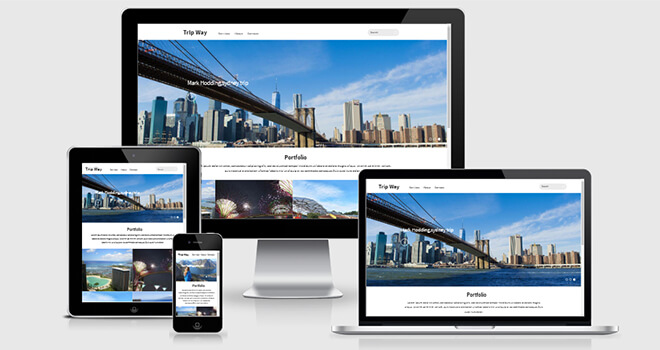 075. Trip Way free responsive bootstrap template