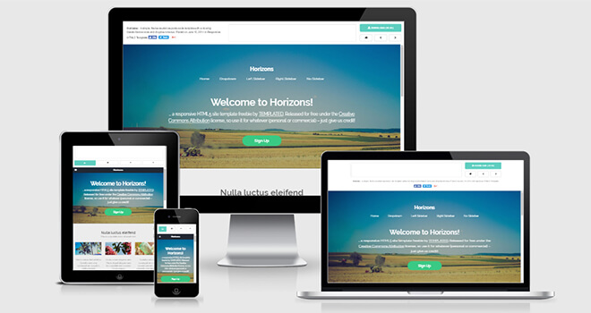 077. Horizons free responsive bootstrap template