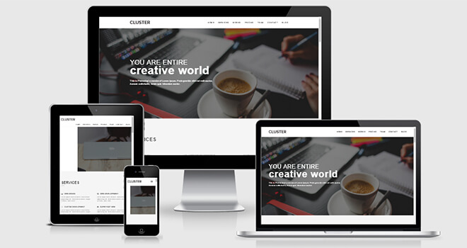 084. Cluster free responsive bootstrap template