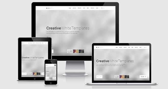 087. White Pro free responsive bootstrap template