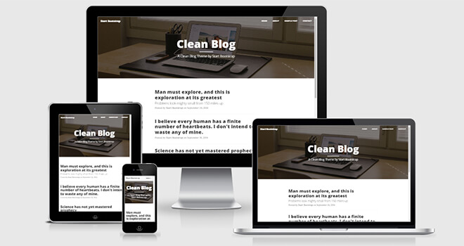 094. Clean Blog free responsive bootstrap template