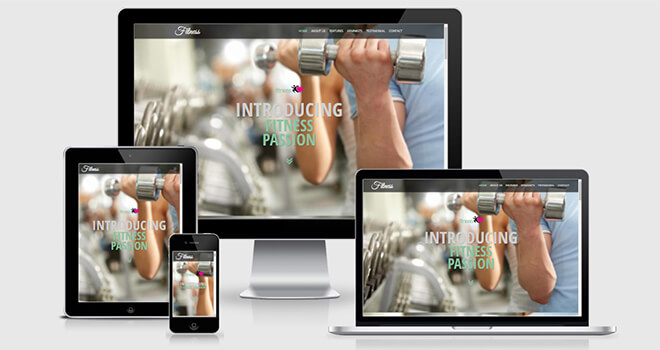 103. Fitness free responsive bootstrap template