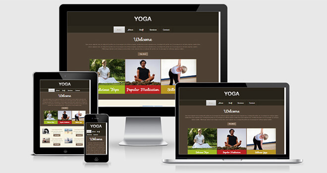 105. Yoga free responsive bootstrap template