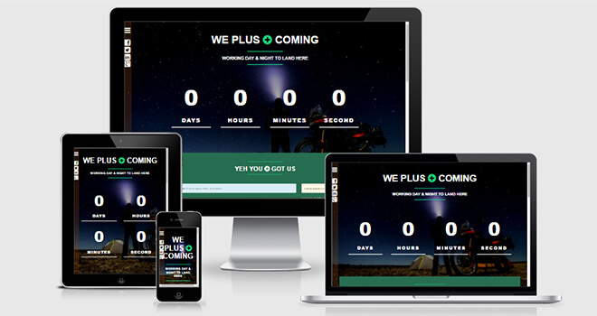 119. We Plus Coming free responsive bootstrap template