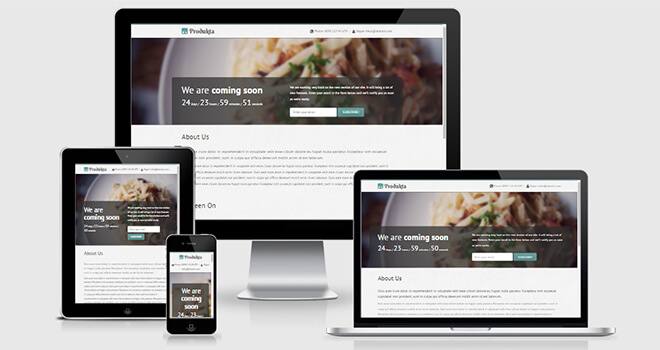 121. Produkta free responsive bootstrap template