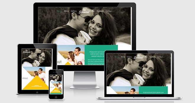 131. Spousal free responsive bootstrap template