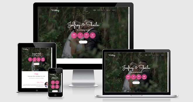 136. Wedding free responsive bootstrap template