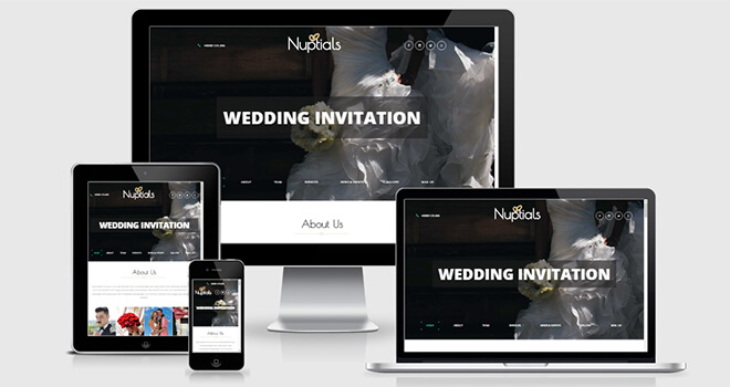 138. Nuptials free responsive bootstrap template