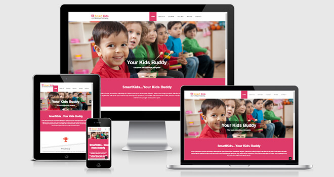 147. Smart Kids free responsive bootstrap template