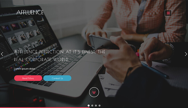16.-Affluence business website design template