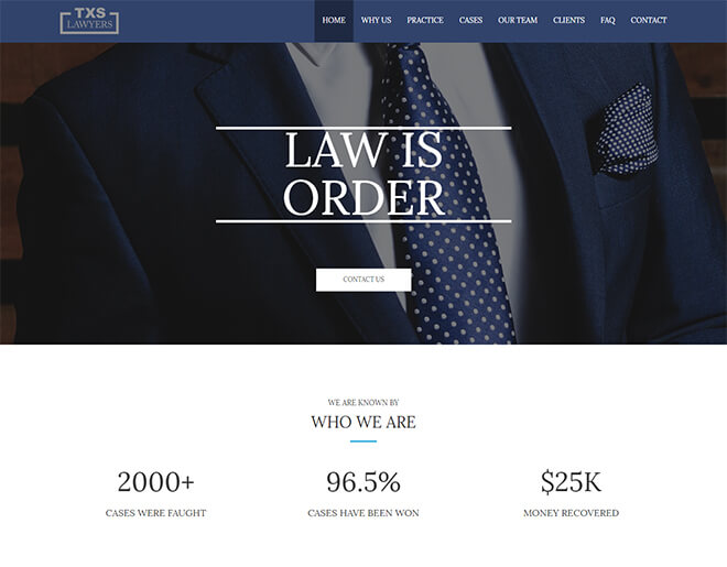 27.-Texus-Lawyer business website design template