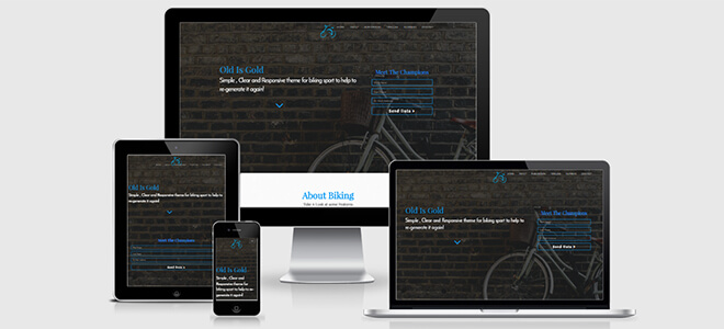Bicycle responsive biking sports category template