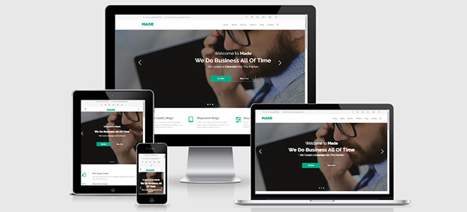 Made-One-Responsive-Free Business HTML5 Template