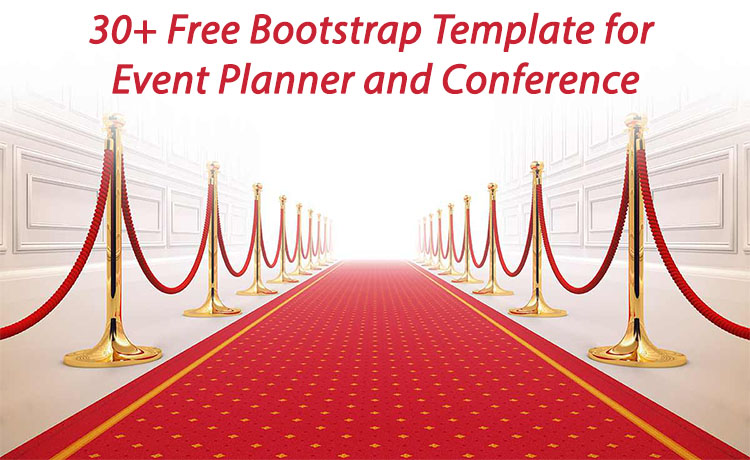 30+ free event bootstrap template