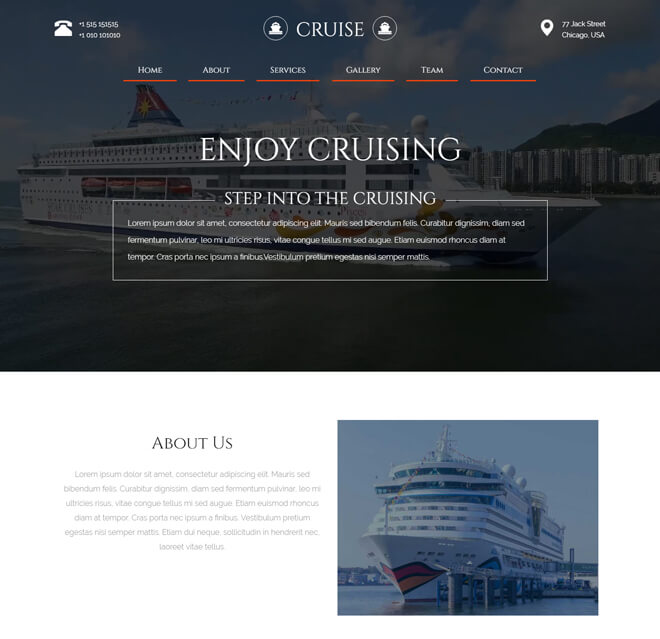 07.-Cruise travel website html5 bootstrap template