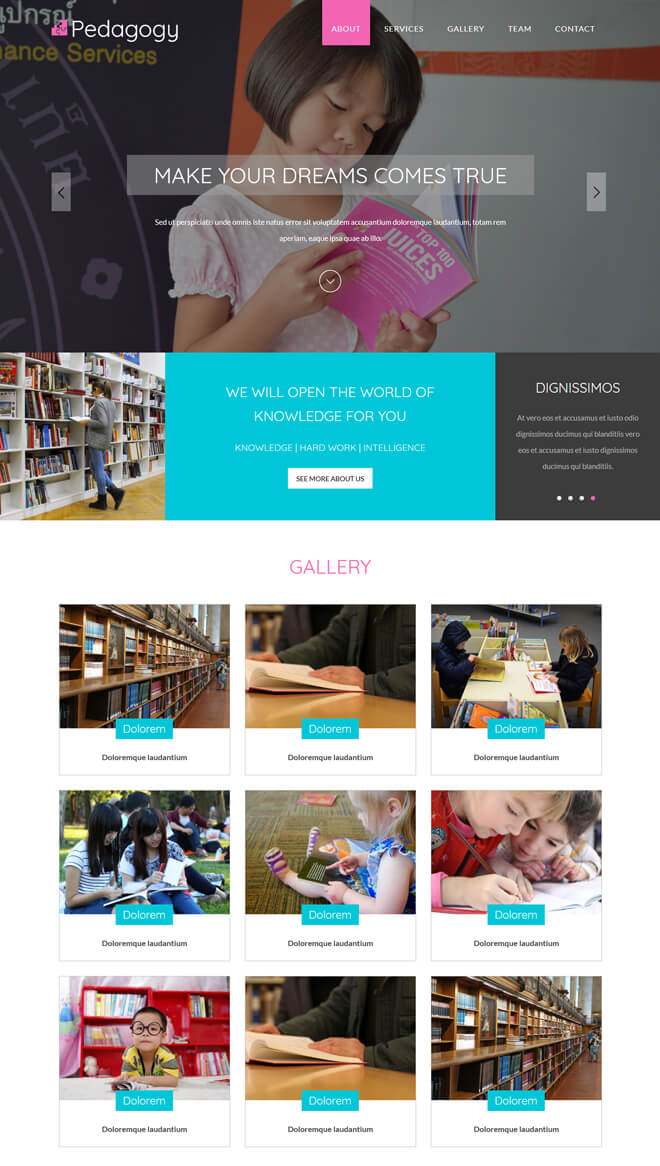 Pedagogy - free online education website template