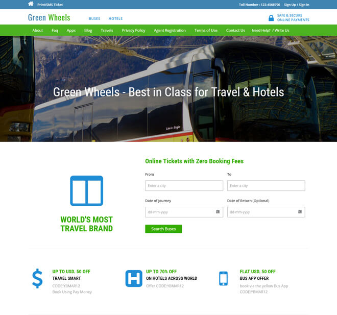 11.-Green-Wheels-travel website html5 bootstrap template