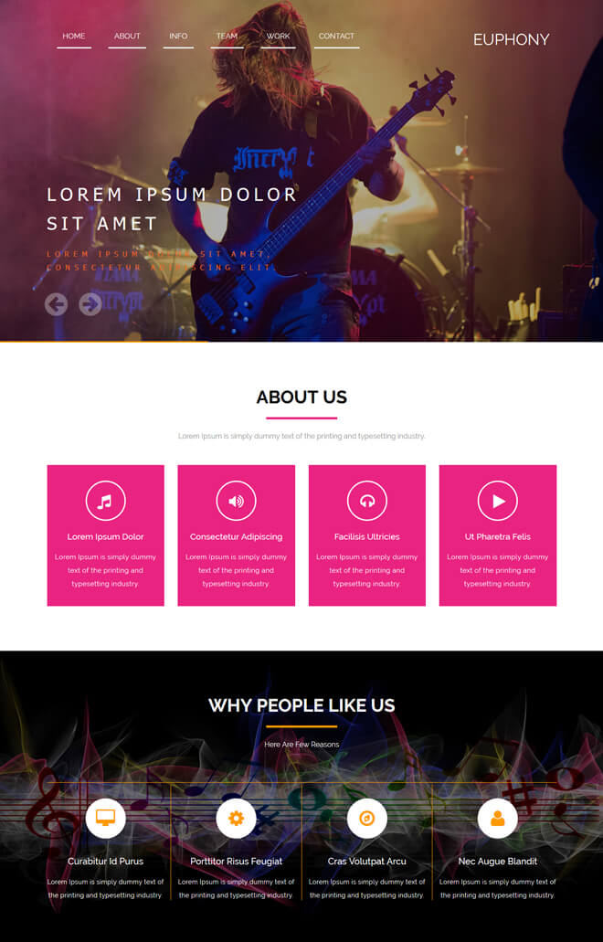 Free Event Bootstrap Template