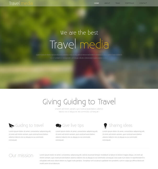 17.-Travel-Media-travel website html5 bootstrap template