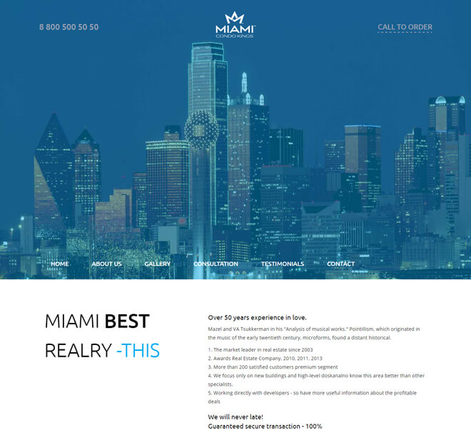 20.-Miami-travel website html5 bootstrap template