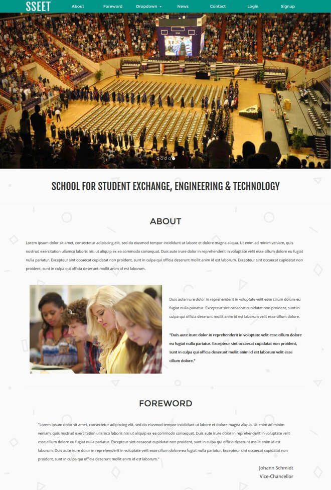 Exchange - free online education website template