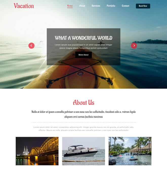 23.-Vacation-travel website html5 bootstrap template